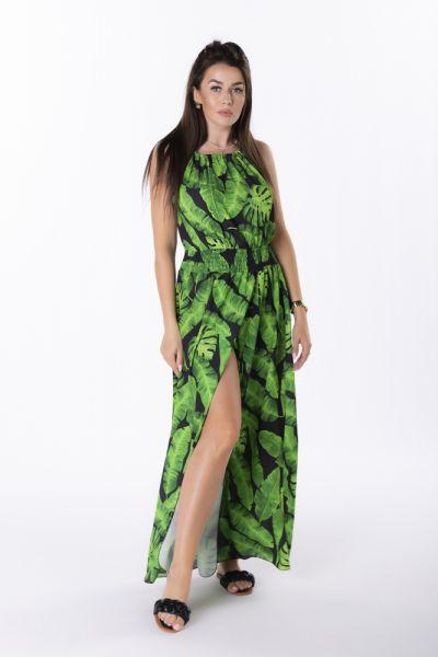 Suknie i sukienki M84898 sukienka maxi z printem uni wzory i kolory