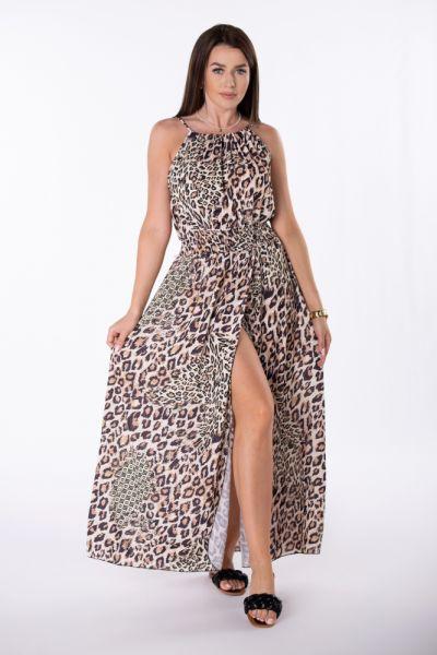 Suknie i sukienki Sukienka długa wzory wiązanie rozmiar uniwersalny kolory