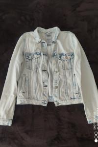 Katana jeansowa z przetarciami...