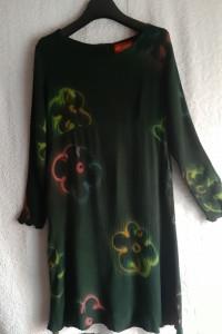 Zielona sukienka z wiskozy rozmiar M...