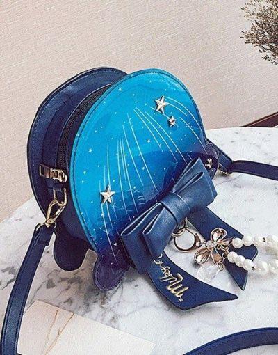 Torebki na co dzień Granatowa torebka w stylu Lolita