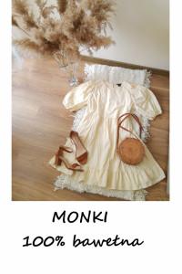Letnia bawełniana sukienka Monki bawełna M L XL...