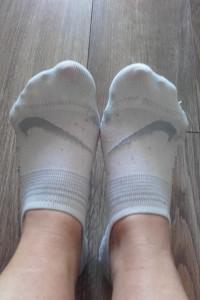 Używane pachnące skarpetki stopki Nike 36...
