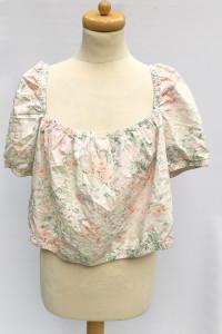 Bluzka Hiszpanka H&M XL 42 Top Kwiaty Odkryte Ramiona...
