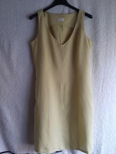 Suknie i sukienki Seledynowa bawełniana sukienka Promod