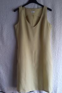Seledynowa bawełniana sukienka Promod
