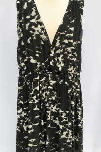 Sukienka H&M Plus Wzory Czarna Marmurkowa 54 7XL Elegancka...