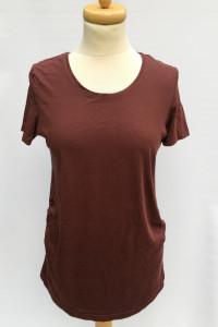 Bluzka H&M Mama Ciążowa Bordowa Koszulka M 38 Brzuszek...