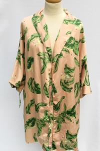 Narzutka Pareo Kimono XS S 34 36 The Webster Beżowe Liście...