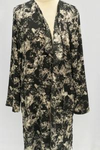 Kimono Narzutka Gina Tricot XXL 44 Kwiaty Czarne...