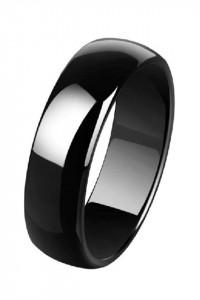 Nowy pierścionek ceramiczny czarny obrączka czerń prosty elegancki unisex
