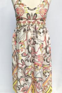 Sukienka H&M M 38 Azymetryczna Wzory Boho Wzorki...
