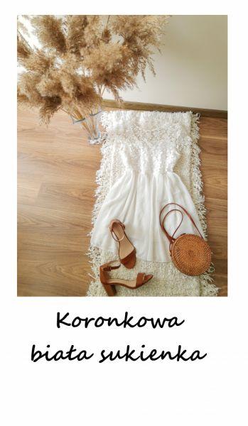 Suknie i sukienki Romantyczna śliczna sukienka z koronką XS S randka komunia chrzest