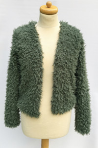 Sweter Zielony Khaki Włochaty Gina Tricot S 36 Narzutka