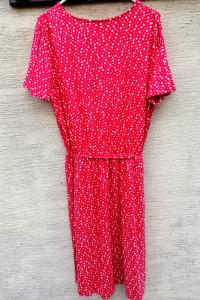 Prosta sukienka na lato czerwona w białe kropki...