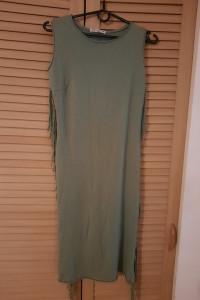 Nowa ołówkowa sukienka z frędzlami