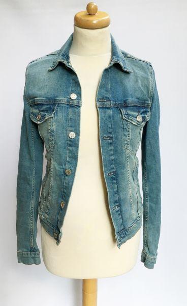 Odzież wierzchnia Kurtka Katanka Dzinsowa H&M XS 34 Jeansowa Niebieska Dzins