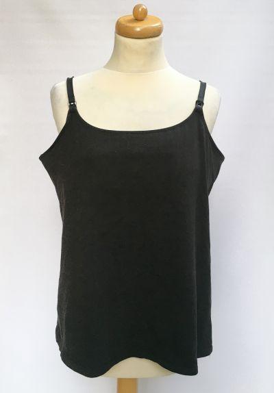 Bluzki Bluzka H&M Mama Koszulka Do Karmienia Czarna XL 42
