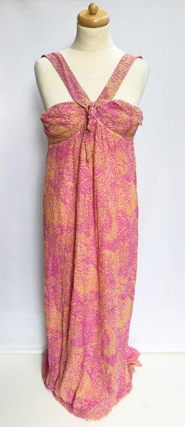 Suknie i sukienki Sukienka Long Jedwab Jedwabna Róż Matthew Williamson M 38