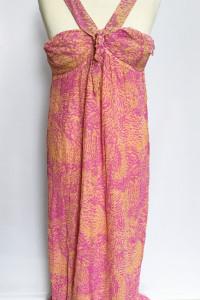 Sukienka Long Jedwab Jedwabna Róż Matthew Williamson M 38...