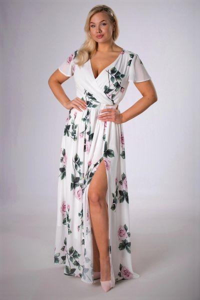 Suknie i sukienki M83941 sukienka maxi sukienka kwiaty 42 XXL