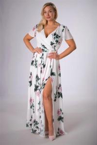 M83941 sukienka maxi sukienka kwiaty 42 XXL