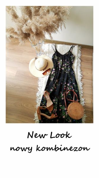 Kombinezony Nowy kombinezon w kwiaty New Look szerokie nogawki kuloty culotte 40 42