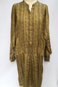 Sukienka Noa Noa Wzory XL 42 Oliwkowa Nietoperz Wzorki