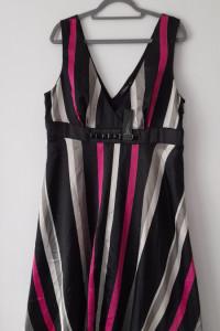 Trapezowa sukiena odcinana pod biustem 46...