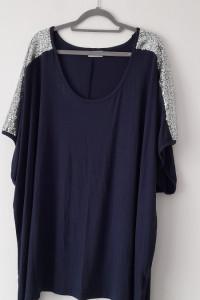 Granatowa elatyczna bluzka plus size 58 60...