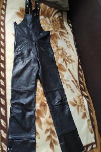 Spodnie z szelkami Motocyklowe Echtes Leder...