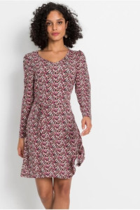 Dżersejowa sukienka w kolorowe kwiatki 44 lub 46...