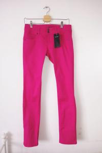 NOWE różowe jeansy rurki Terranova emo rock punk scene