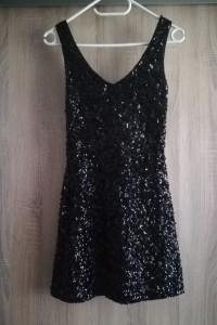 Sukienka mała czarna cekiny świecąca...
