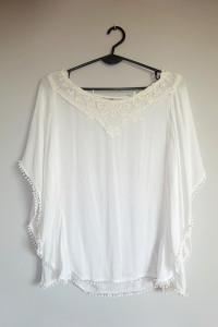 C&A biała zwiewna luźna bluzka nietoperz cienka 36 S...