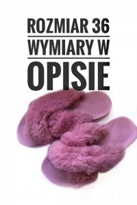 Coface damskie różowe kapcie klapki pantofle z futrem