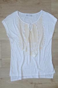 biała zwiewna bluzka ze sznurkami 36 S...