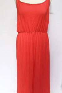 Sukienka Długa Czerwona NOWA H&M XL 42 Maxi Long Rozporki...
