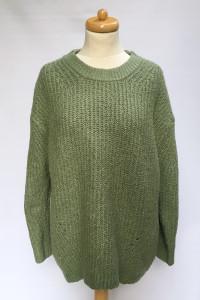 Sweter Oversize L 40 George Zielony Luzny Khaki