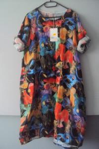 nowa lniana sukienka...