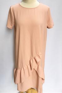 Sukienka NOWA Falbanka Tom&Rose XL 42 Elegancka Różowa