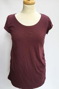Bluzka Ciążowa H&M Mama M 38 T Shirt Ciąża Bordowa