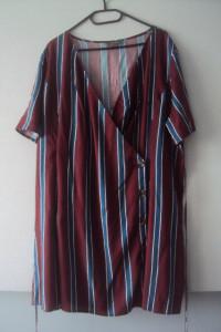 sukienka tunika z asymetrycznym zapięciem...
