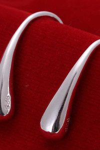 Nowe kolczyki łezki łzy krople posrebrzane srebrny kolor