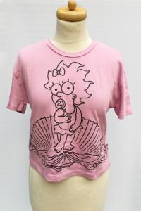 Bluzka Różowa Oversize Zara The Simpsons S 36 T Shirt...