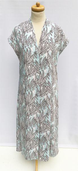 Suknie i sukienki Sukienka Wzory H&M M 38 Błękitna Dłuższa Koszulowa