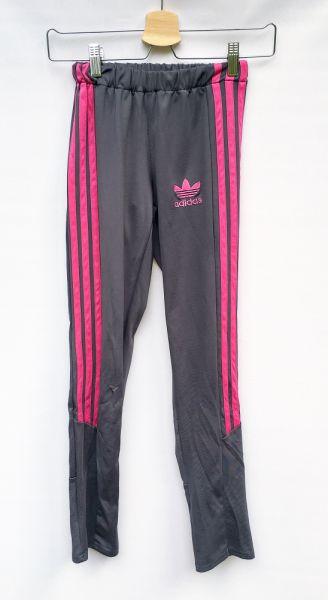 Legginsy Legginsy Sportowe Adidas Szare S 36 Spodnie Różowe