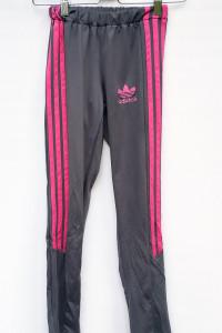 Legginsy Sportowe Adidas Szare S 36 Spodnie Różowe