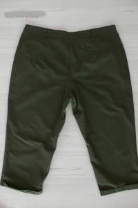 Spodnie Bermudy Capri Rybaczki Oliwkowe Khaki Przewiewne XL