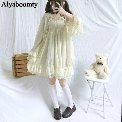 Suknie i sukienki Sweet Lolita Dwuczęściowa Sukienka Z Szyfonu